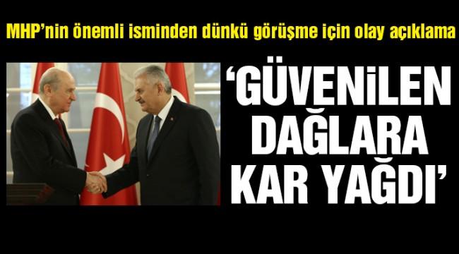 Başkanlık anlaşmasına MHP'li vekilden tepki: Çok kişinin güvendiği dağlara kar yağdı