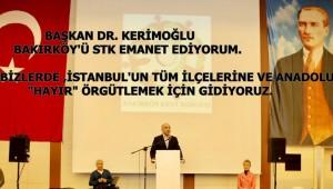 BAŞKAN DR.BÜLENT KERİMOĞLU,YÜKSEK SESLE,HEP BİRLİKTE 'HAYIR!'DİYORUZ!