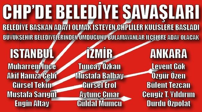 CHP'DE BELEDİYE SAVAŞLARI BAŞLADI