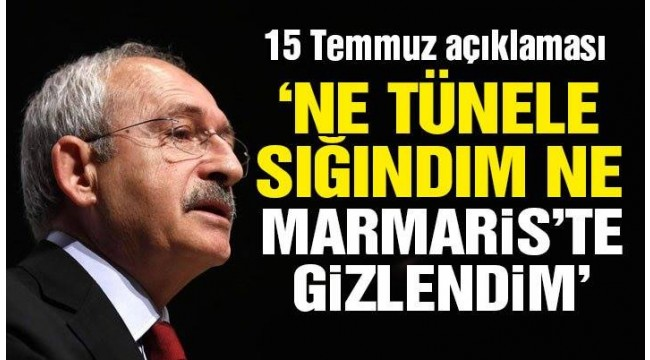 Kemal Kılıçdaroğlu: Kaçtığım iddialarını ciddiye almıyorum