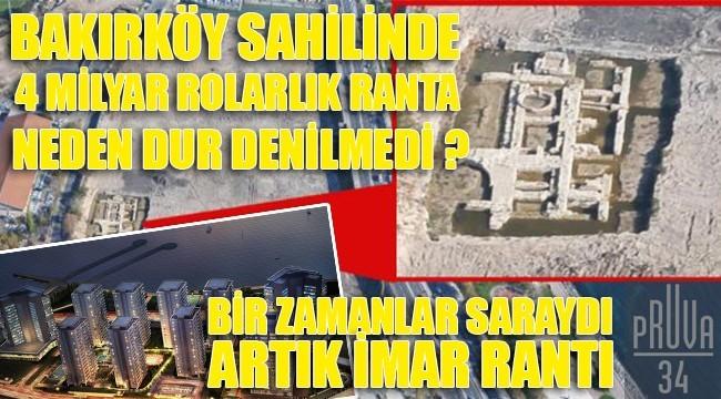 BAKIRKÖY 'DE TARİHİ SARAY REZİDANS OLDU