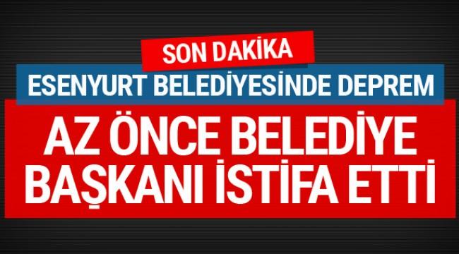 Akparti Esenyurt Belediye Başkanı Necmi Kadıoğlu istifa etti!