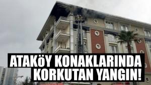 Ataköy Konaklarında bir ev alev alev yandı