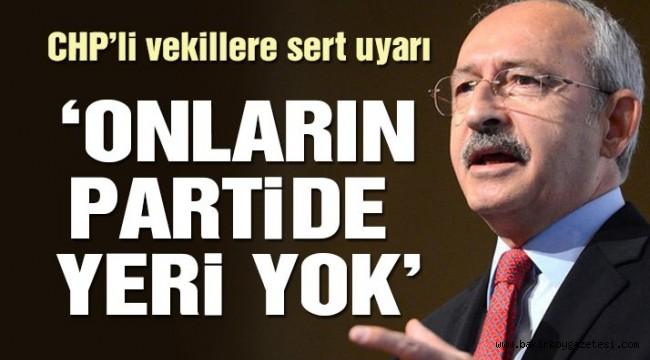CHP liderinden Tüzük Kurultayı'nda sert mesajlar