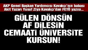 AKP 'li Akit yazarından ilginç 'FETÖ' yazısı!