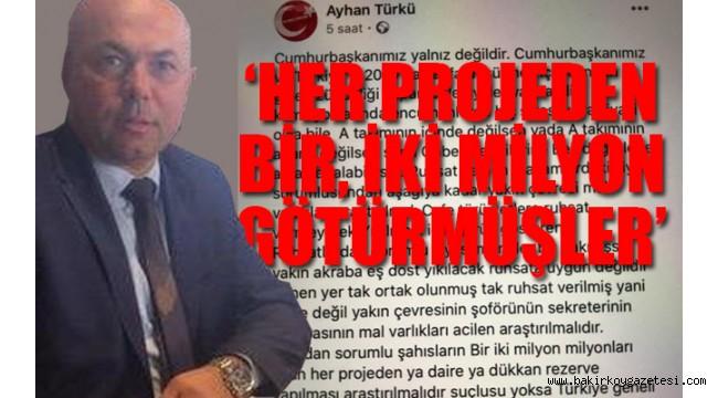 AKP'li yönetici fena bombaladı: Eş, dost, akraba, sekreter... Mal varlıkları araştırılsın