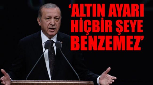 Cumhurbaşkanı Erdoğan'dan IMF'ye altın önerisi