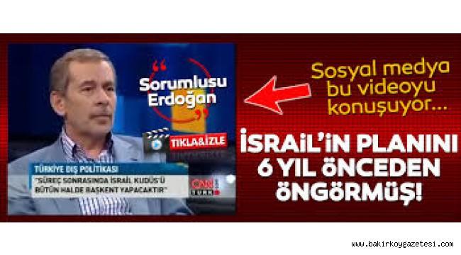 ABDÜLLATİF ŞENER ,KUDUS'Ü 6 YIL ÖNCE BİLDİ