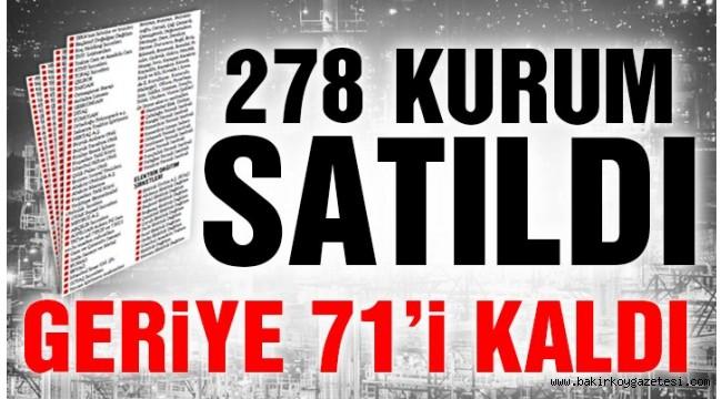 AK Parti devlette herşeyi sattı