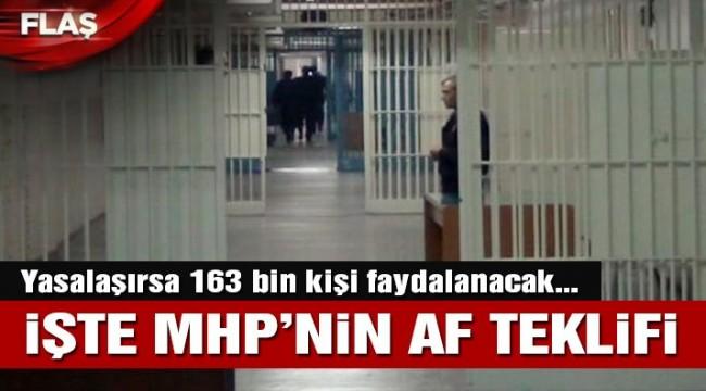 Son dakika… MHP'nin af önerisi belli oldu: 5 yıl indirim