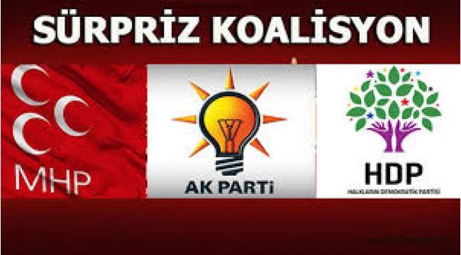 AK PARTİ,MHP ve HDP BİRLEŞTİ