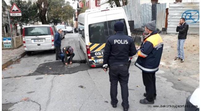 Bakırköy'de Yolda Çökme
