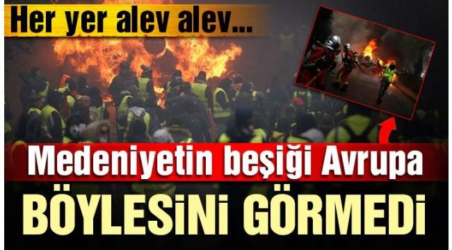 Son dakika… Avrupa yanıyor! Sarı yelekliler yeniden sokaklarda
