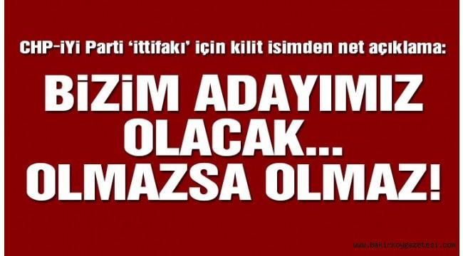 Son dakika… CHP- İYİ Parti ittifakı için net açıklama!