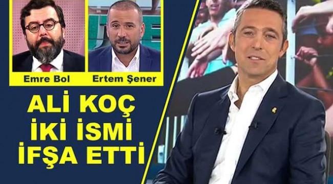 Ali Koç röportaj yalanını ifşa etti: Emre Bol, Ertem Şener...