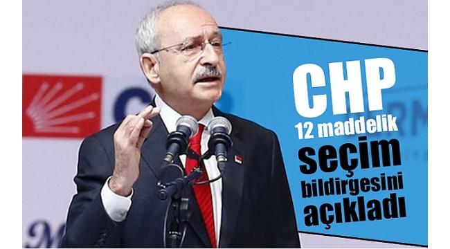 İşte CHP'nin yerel yönetimler bildirgesi