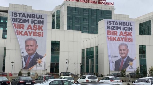 Devlet hastaneleri de AKP'nin seçim propagandası oldu!