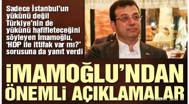 Ekrem İmamoğlu: İstanbul iyi yönetilirse Türkiye'nin yükü hafifler