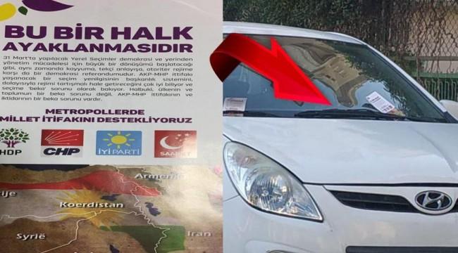 Sahte propaganda... HDP afişinde CHP logosu!