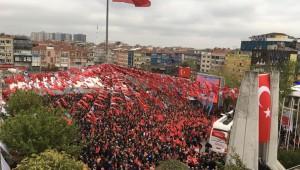 Bakırköy'de Ekrem İmamoğlu coşkusu