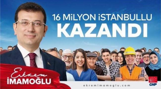 CHP'Lİ EKREM İMAMOĞLU İSTANBUL BELEDİYE BAŞKANI OLDU!
