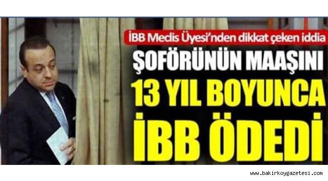 CHP 'li Nadir Ataman , AKP 'li  Egemen Bağış'a şöför İBB 'den