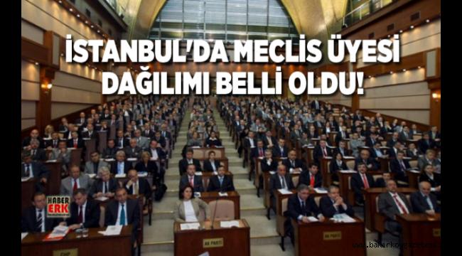 İstanbul'da Meclis Üyesi dağılımı belli oldu!