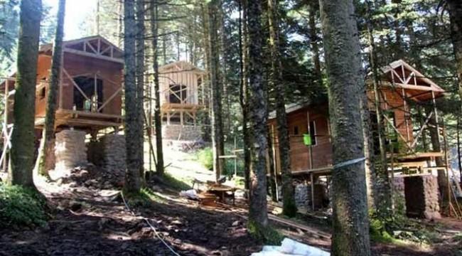 İsraf: Proje iptal oldu, 7 milyon liraya yapılan bungalov evler ihaleyle satılacak