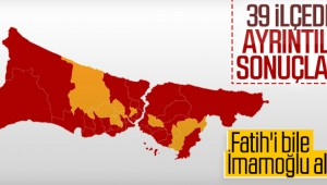 İstanbul'un ilçelerinde oy oranları