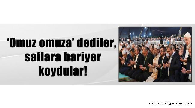 YUH YANİ CAMİİ'DE BİLE PROTOKOL!