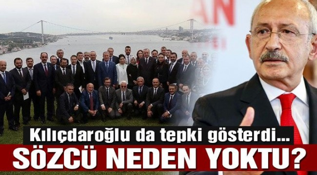 Kılıçdaroğlu'dan Erdoğan'a: Sözcü'yü neden davet etmedin