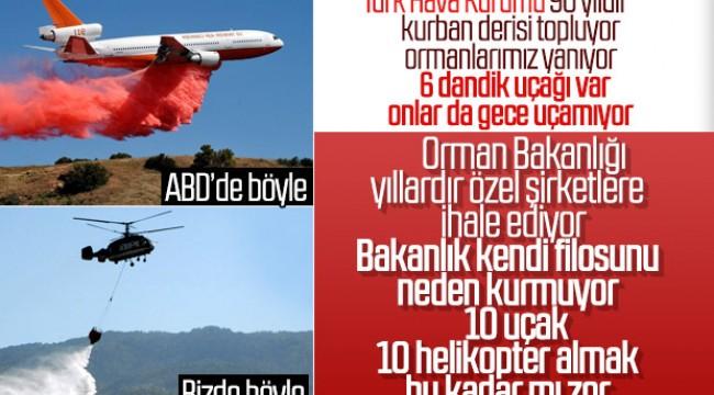 Orman yangınlarında uçak neden kullanılmıyor tartışması