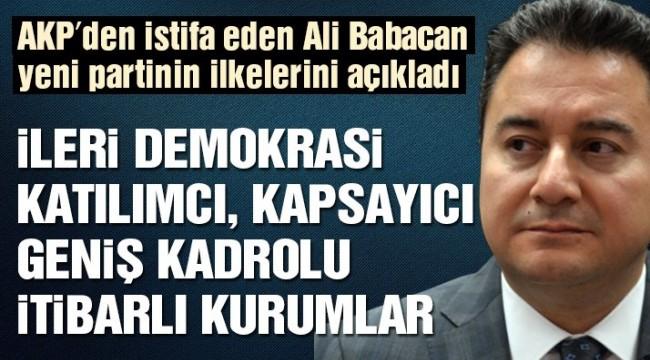 Son dakika… Ali Babacan: Çalışmalara başladık