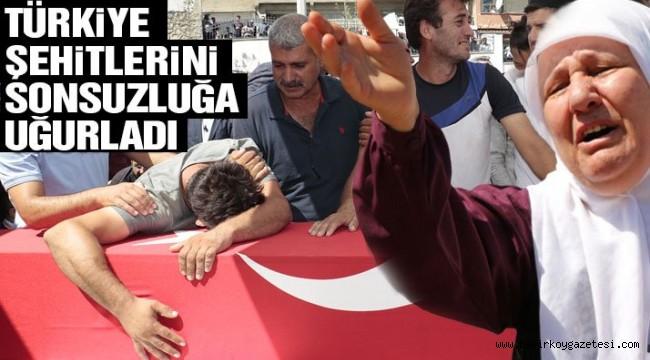 Diyarbakır şehitleri son yolculuklarına uğurladı