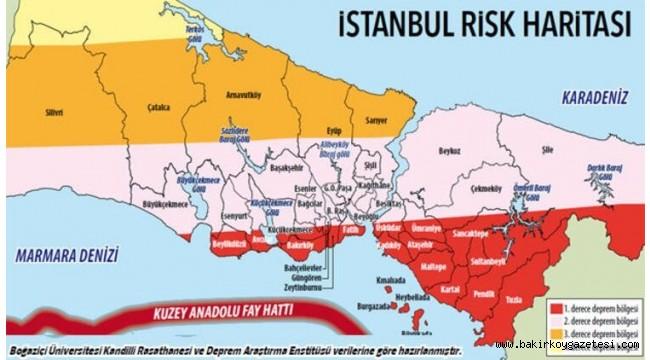 İstanbul'da Yüksek Deprem Riski Taşıyan Semtler