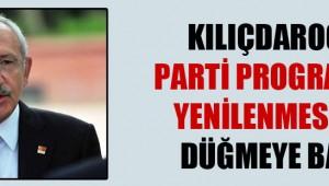 CHP 'de parti programının yenilenmesi için düğmeye basıldı!