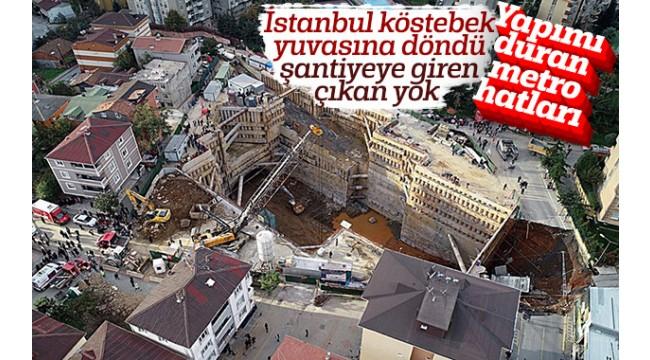 İstanbul'da yapımı duran metro hatları! Ya Deprem olursa
