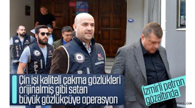 İzmir'de sahte gözlük operasyonu