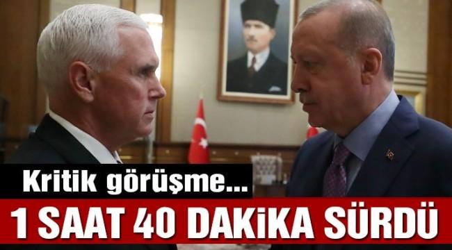 Son dakika… Erdoğan – Mike Pence görüşmesi 1 saat 40 dakika sürdü