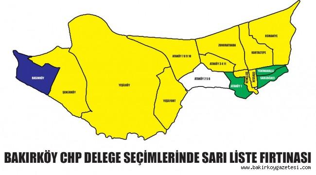 BAKIRKÖY CHP DELEGE SEÇİMLERİNDE SARI LİSTE FIRTINASI!