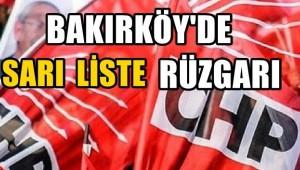 BAKIRKÖY CHP DELEGE SEÇİMLERİNDE SARI LİSTE RÜZGARI!