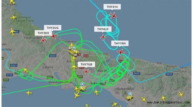 Uçaklar 'rüzgar yüzünden' İstanbul Havalimanı'na inemiyor