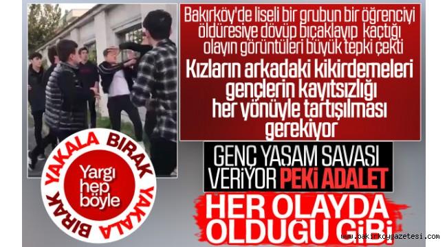 Bakırköy'de lise öğrencisini bıçaklayan kişi yeniden tutuklandı