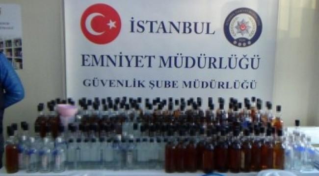BAKIRKÖY'DE SAHTE İÇKİ OPERASYONU!