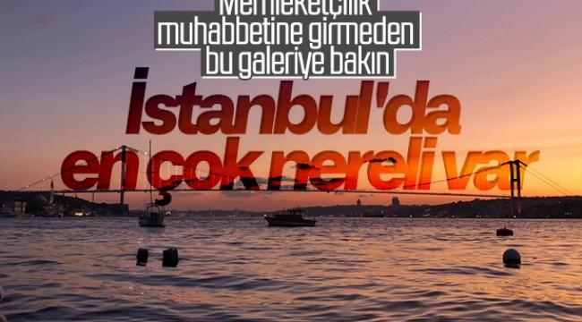İstanbul'da en çok hangi şehirden insanlar yaşıyor