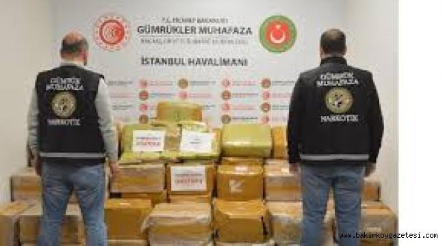 İstanbul Havalimanında 1.7 ton uyuşturucu