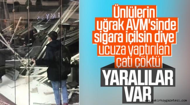 Zorlu Center AVM'de BEYMEN-MORİNO  cafenin tavanı çöktü!