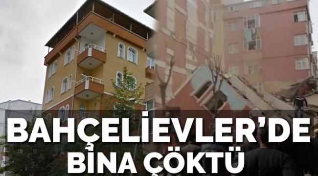 Son dakika: İstanbul'da bir bina çöktü