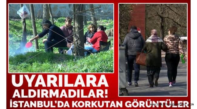 İstanbullular 'evde kal' çağrısına uymadı! Vurdum duymaz Korkutan görüntüler