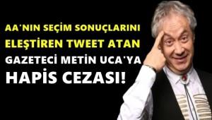 AA'yı eleştiren Metin Uca'ya hapis cezası!